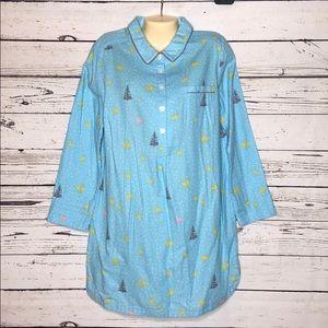 Boden NWOT 12 Christmas Sleep Shirt Nightgown